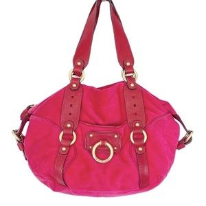 VINTAGE Y2K Hot Pink Velour Juicy Couture Handbag.